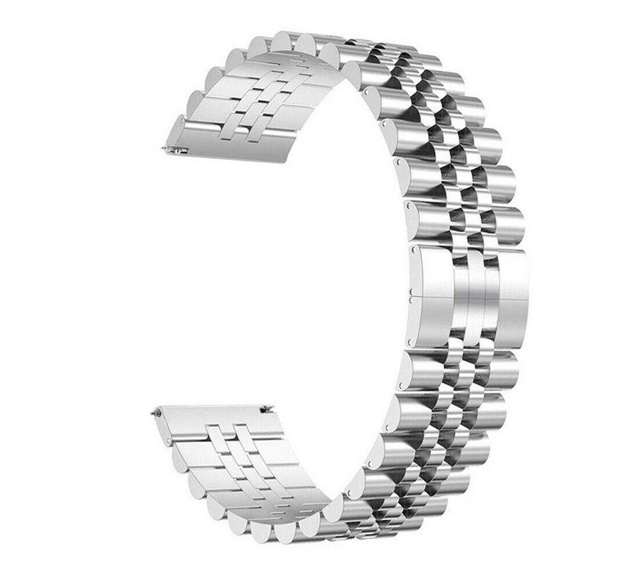 Strap-it® Samsung Galaxy Watch 3 41mm Jubilee stalen band (zilver)