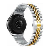 Strap-it® Samsung Galaxy Watch 3 41mm Jubilee stalen band (zilver/goud)