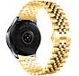 Strap-it® Samsung Galaxy Watch 3 41mm Jubilee stalen band (goud)