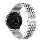 Strap-it® Samsung Galaxy Watch Active Jubilee stalen band (zilver)
