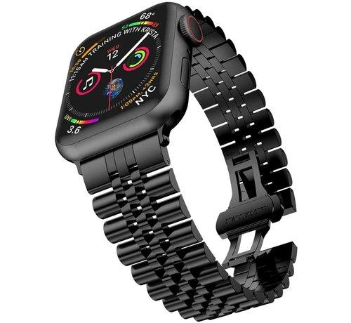 Strap-it® Strap-it® Apple Watch Jubilee stalen band (zwart)