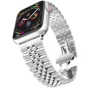 Strap-it® Apple Watch Jubilee stalen band (zilver)