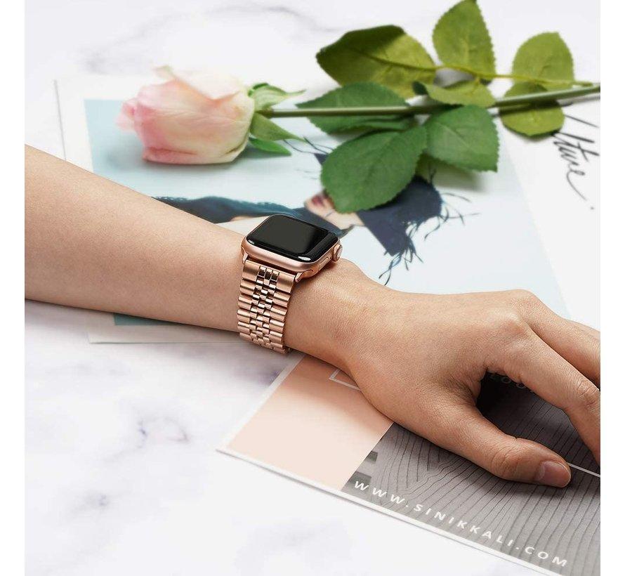 Strap-it® Apple Watch Jubilee stalen band (rosé goud)