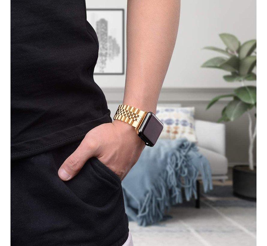 Strap-it® Apple Watch Jubilee stalen band (goud)