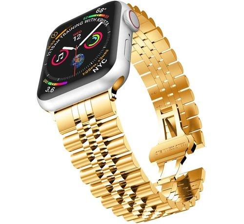 Strap-it® Strap-it® Apple Watch Jubilee stalen band (goud)