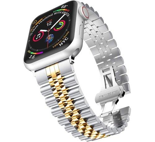 Strap-it® Strap-it® Apple Watch Jubilee stalen band (zilver/goud)