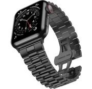 Strap-it® Apple Watch Presidential stalen band (zwart)