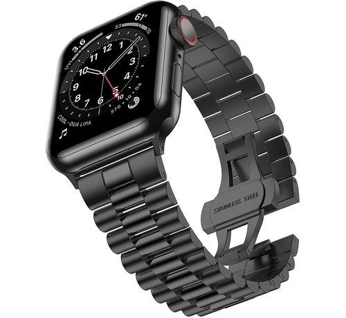 Strap-it® Strap-it® Apple Watch Presidential stalen band (zwart)