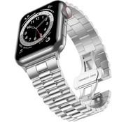 Strap-it® Apple Watch Presidential stalen band (zilver)
