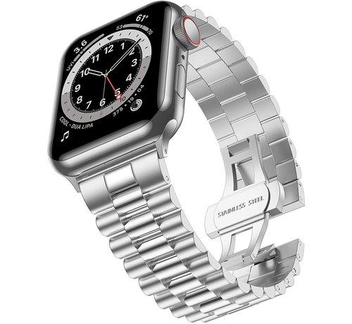 Strap-it® Strap-it® Apple Watch Presidential stalen band (zilver)