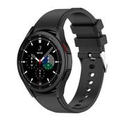 Strap-it® Samsung Galaxy Watch 4 Classic siliconen bandje (zwart)