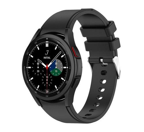 Strap-it® Strap-it Samsung Galaxy Watch 4 Classic siliconen bandje (zwart)