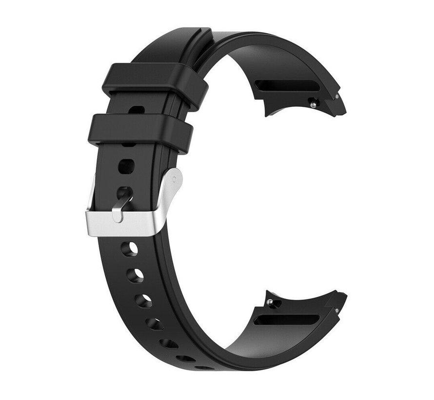 Strap-it Samsung Galaxy Watch 4 Classic siliconen bandje (zwart)