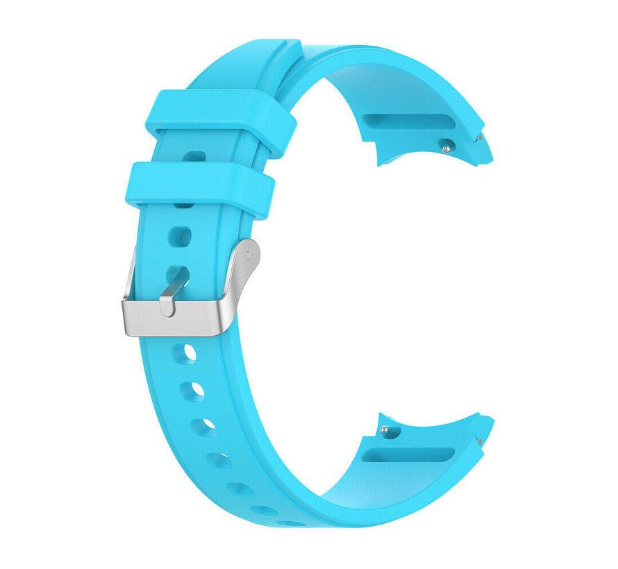 Strap-it Samsung Galaxy Watch 4 Classic siliconen bandje (lichtblauw)
