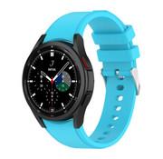 Strap-it® Samsung Galaxy Watch 4 Classic siliconen bandje (lichtblauw)