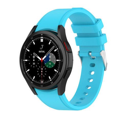 Strap-it® Strap-it Samsung Galaxy Watch 4 Classic siliconen bandje (lichtblauw)