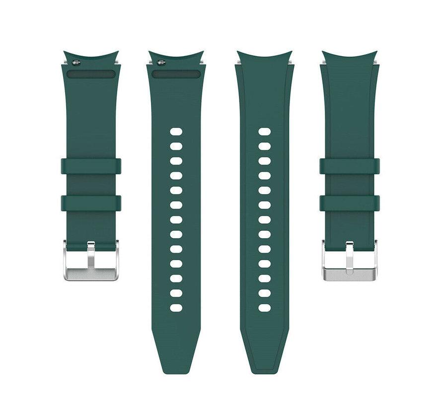 Strap-it Samsung Galaxy Watch 4 Classic siliconen bandje (donkergroen)