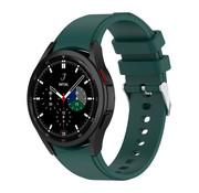 Strap-it® Samsung Galaxy Watch 4 Classic siliconen bandje (donkergroen)