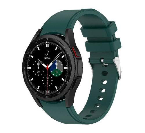 Strap-it® Strap-it Samsung Galaxy Watch 4 Classic siliconen bandje (donkergroen)