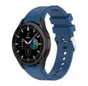 Strap-it® Samsung Galaxy Watch 4 Classic siliconen bandje (donkerblauw)