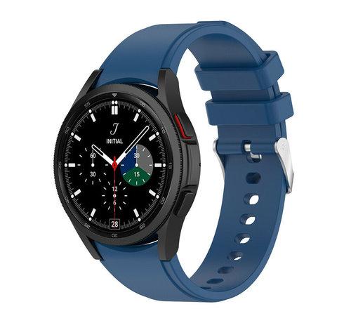 Strap-it® Strap-it Samsung Galaxy Watch 4 Classic siliconen bandje (donkerblauw)