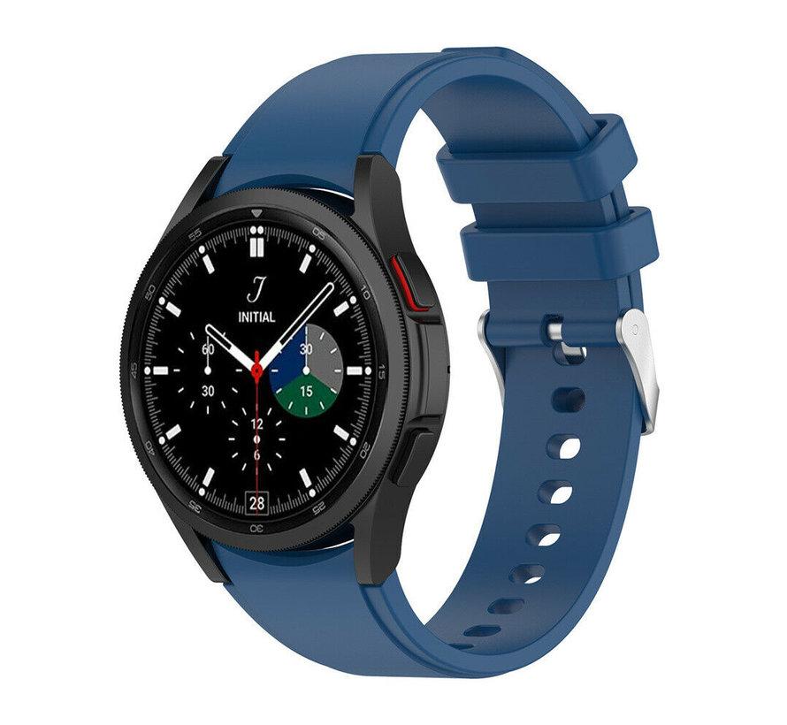 Strap-it Samsung Galaxy Watch 4 Classic siliconen bandje (donkerblauw)