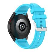 Strap-it® Samsung Galaxy Watch 4 siliconen bandje (lichtblauw)