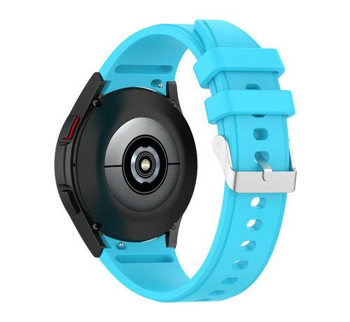 Strap-it® Strap-it Samsung Galaxy Watch 4 siliconen bandje (lichtblauw)