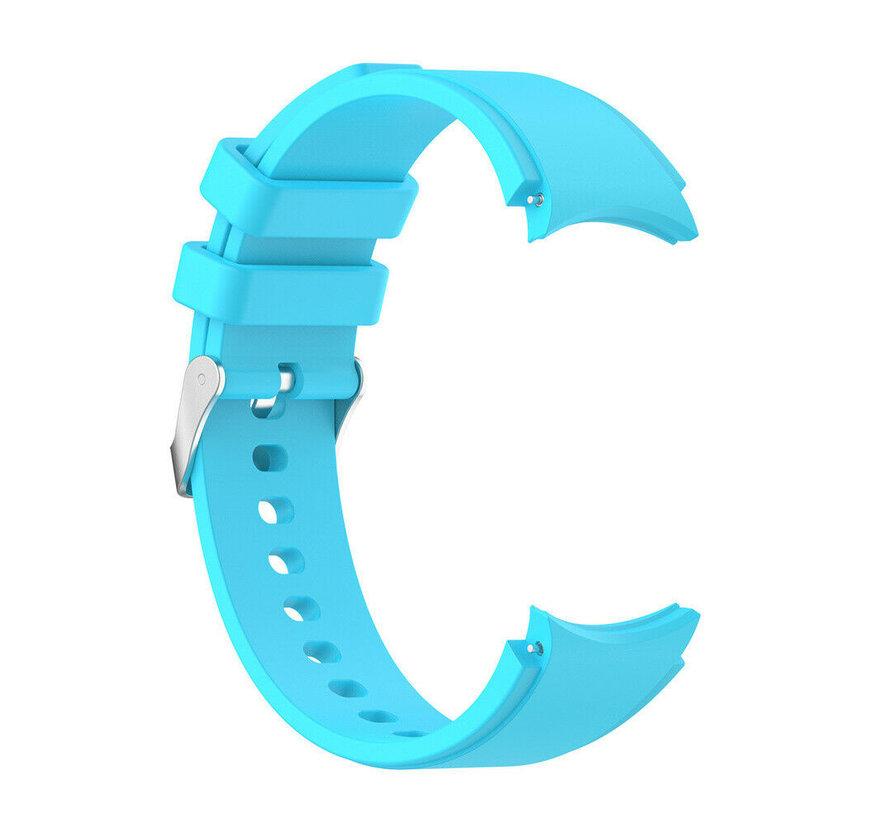 Strap-it Samsung Galaxy Watch 4 siliconen bandje (lichtblauw)