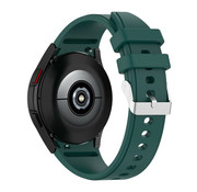 Strap-it® Samsung Galaxy Watch 4 siliconen bandje (donkergroen)