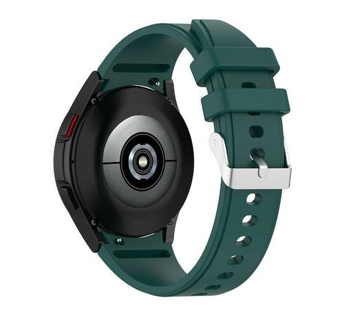 Strap-it® Strap-it Samsung Galaxy Watch 4 siliconen bandje (donkergroen)