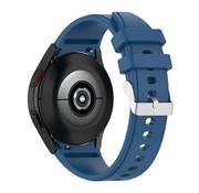 Strap-it® Samsung Galaxy Watch 4 siliconen bandje (donkerblauw)