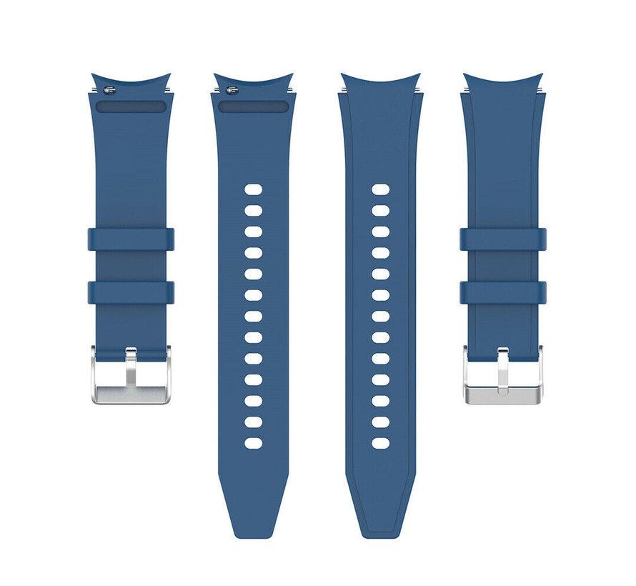 Strap-it Samsung Galaxy Watch 4 siliconen bandje (donkerblauw)