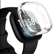 Strap-it® Fitbit Versa 3 silicone case (transparant)