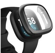 Strap-it® Fitbit Versa 3 silicone case (zwart)