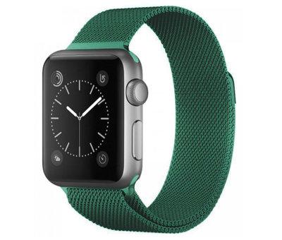 Strap-it® Strap-it® Apple Watch Milanese  band (groen)