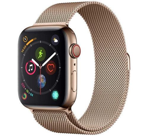 Strap-it® Strap-it® Apple Watch milanese  band (rosé goud)