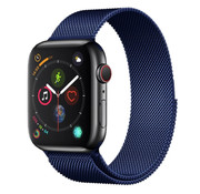 Strap-it® Apple Watch Milanese band (blauw)