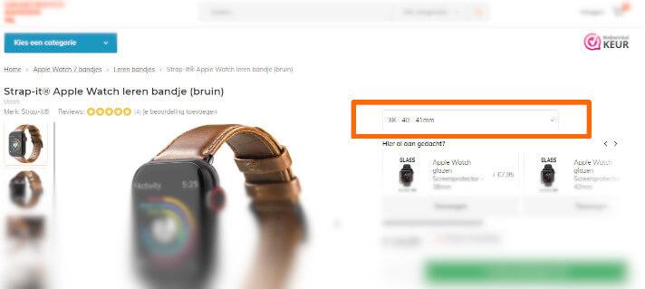 Apple Watch 7 leren band maten