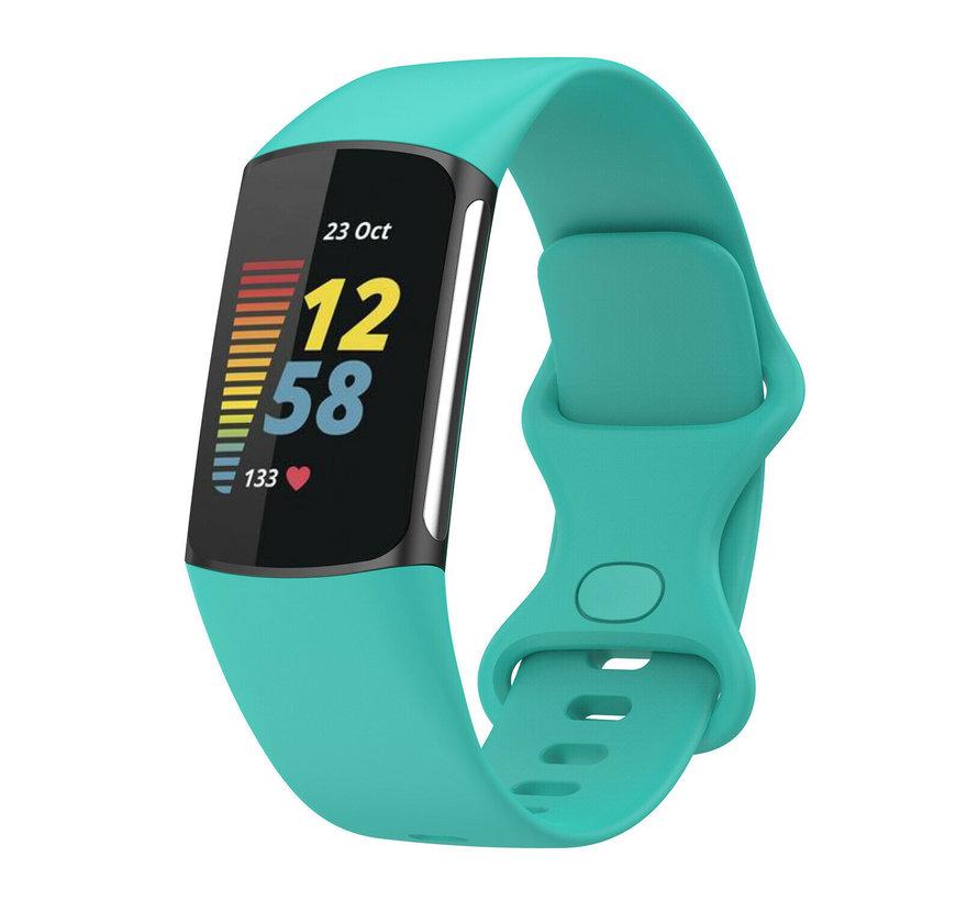 Strap-it® Fitbit Charge 5 siliconen bandje (aqua)