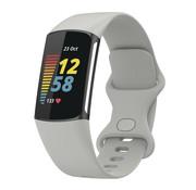 Strap-it® Fitbit Charge 5 siliconen bandje (grijs)