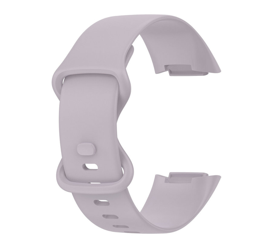 Strap-it® Fitbit Charge 5 siliconen bandje (lavendel)