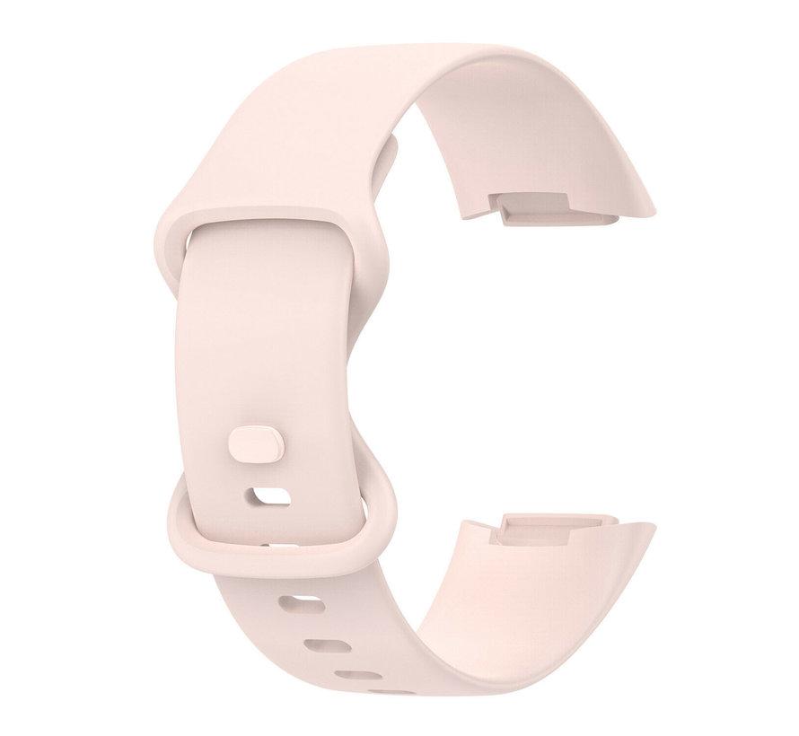 Strap-it® Fitbit Charge 5 siliconen bandje (lichtroze)