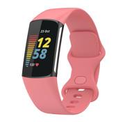 Strap-it® Fitbit Charge 5 siliconen bandje (roze)