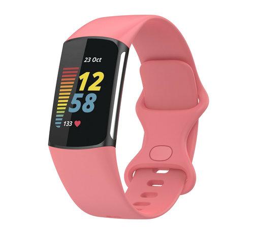 Strap-it® Strap-it® Fitbit Charge 5 siliconen bandje (roze)