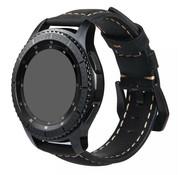 Strap-it® Garmin Vivoactive 3 leren bandje (zwart)