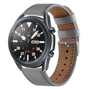Strap-it® Samsung Galaxy Watch 3 - 45mm bandje leer (grijs)