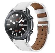 Strap-it® Samsung Galaxy Watch 3 - 45mm bandje leer (wit)