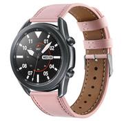 Strap-it® Samsung Galaxy Watch 3 - 45mm bandje leer (roze)