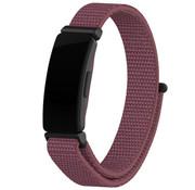 Strap-it® Fitbit Inspire nylon bandje (roodbruin)